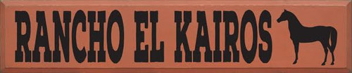 CUSTOM RANCHO EL KAIROS 10x48 Wood Sign