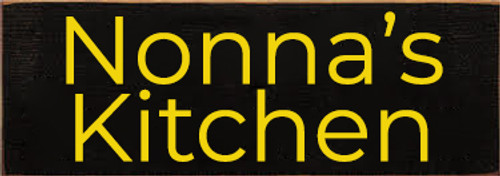CUSTOM Nonna's Kitchen 3.5x10 Wood Sign