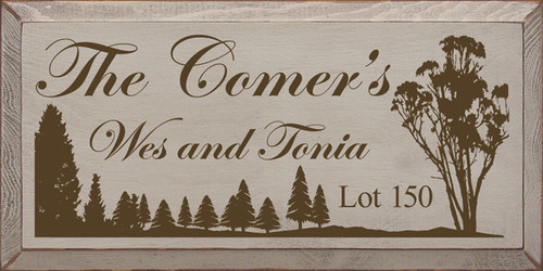 CUSTOM The Comer's 9x18 Wood Sign
