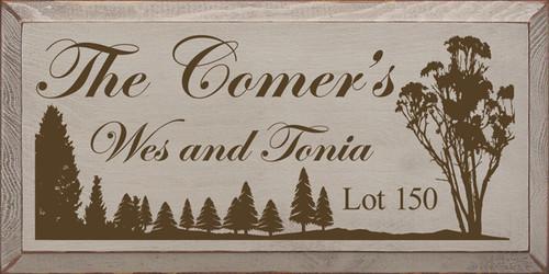 CUSTOM The Comer's 9x18 Wood Sign