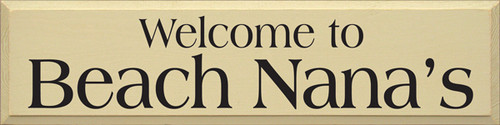 """36""""W x 9""""H Cream board with Black text Wood Sign Welcome To [CUSTOM]"""