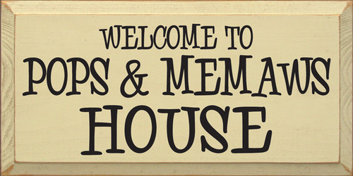 9x18 Cream board with Black text Wooden Sign  Welcome to [CUSTOM]'s House