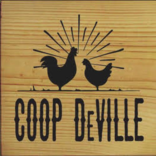 Coop Deville Wood Sign