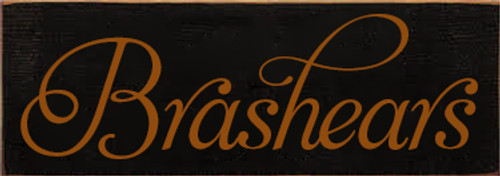 3.5x10 Black board with Gold text Wood Sign  Brashears