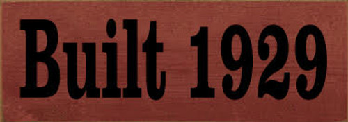 CUSTOM  Built 1929  Cornerstone Marker 3.5x10 Burgundy Board with Black Text