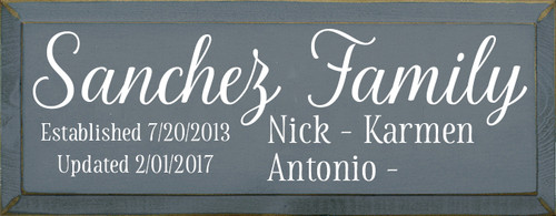 CUSTOM Sanchez Family 7x18