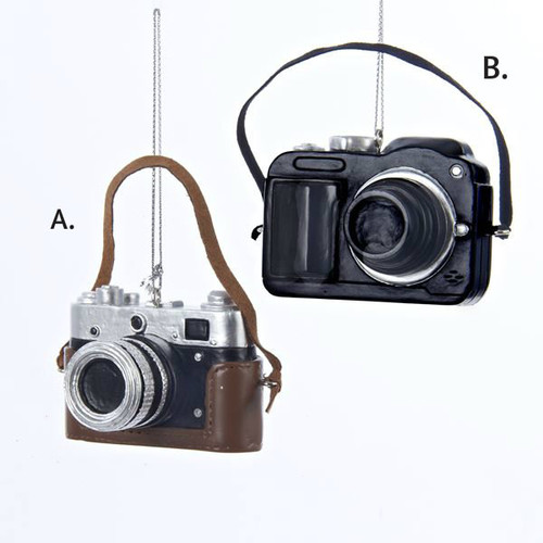 Resin Classic and Digital Camera Ornaments 2.5 in.