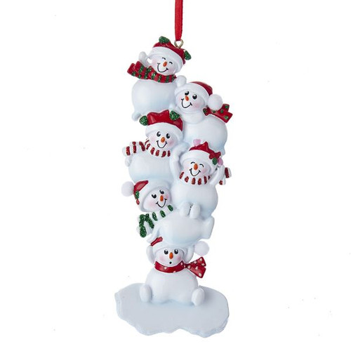 Resin Stacked Snowman of Six Ornament 6.25 in.