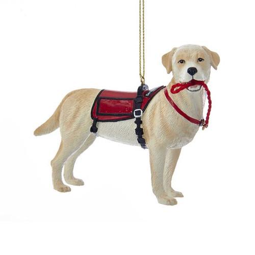Resin Service Dog Ornament 4.5 in.