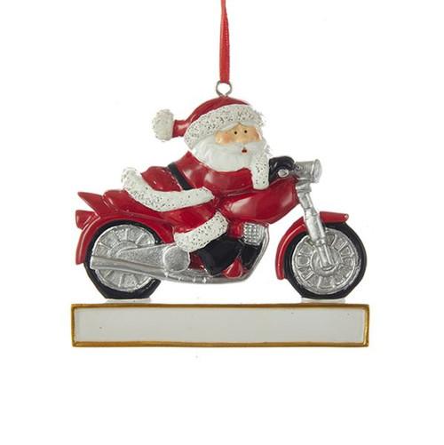 Resin Motorcycle Santa Ornament 3.54 in.