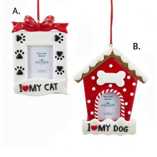Dog/Cat Picture Frame Ornaments 5.25in.