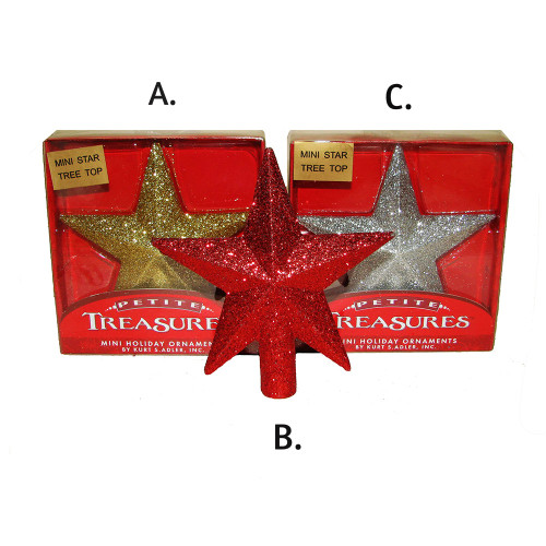 Petite Treasure Glitter Star Treetop 4 in.