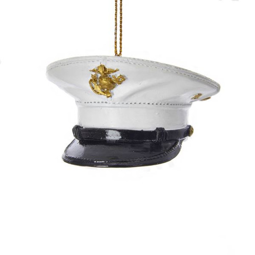 "3""RESIN MARINE CORP DRESS UNIFORM HAT ORNAMENT"