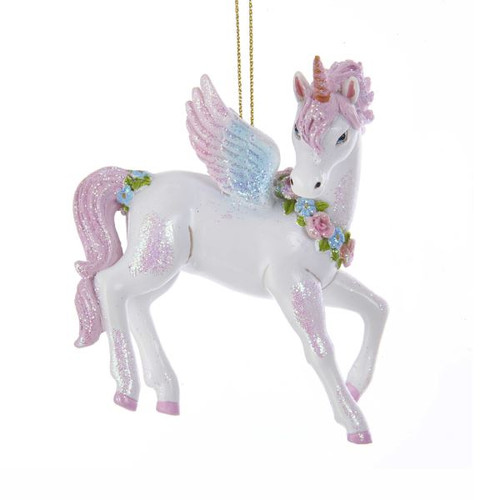"Unicorn Glitter Ornament 3.5"" Resin Full Body Ornament"