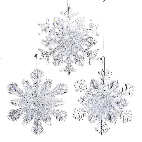 Sparkle Glitter Snowflake Set