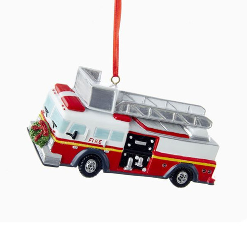 RESIN FIRE TRUCK ORNAMET
