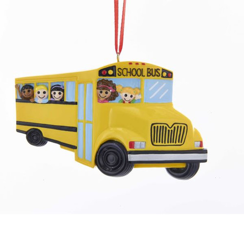 School Bus Ornament For Personalization