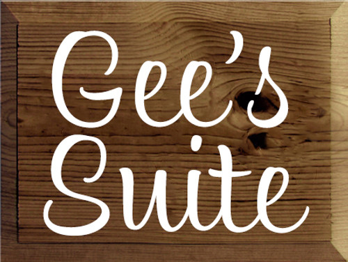9x12 Walnut Stain with White text  Gee's Suite