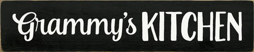 5x24 Black board with White text  Grammy's Kitchen