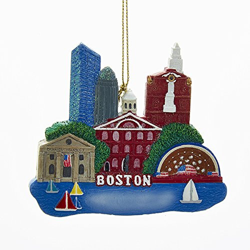 Boston Massachusetts Christmas Tree Ornament Charles River USA
