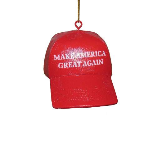 Make America Great Again Red Hat Ornament Donald Trump 2016