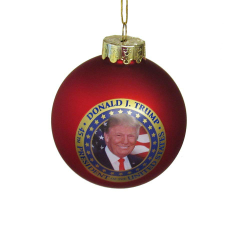 DonalD J. Trump Commemorative Glass Globe Ornament (