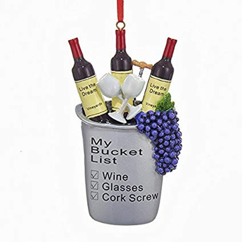 Wine Bucket List 5 Inch Personalized Ornament