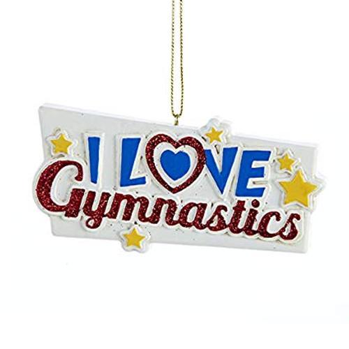 I Love Gymnastics Personalized Ornament