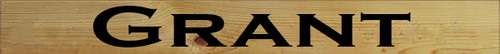 3.25x30 Butternut Stain board with Black text  Grant