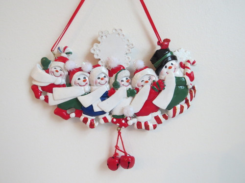 Family of 6 Snowpeople Ornament