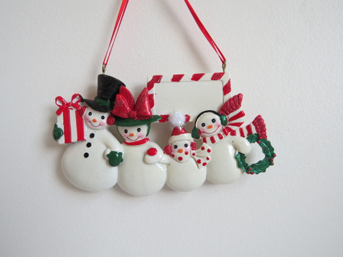 Snowmen Family of 4