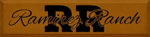 9x36 Caramel board with Black text  RR Ramirez Ranch