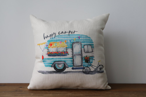 Happy Camper with RV Pillow