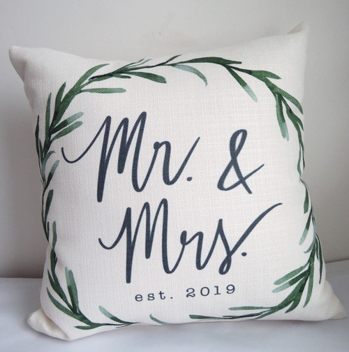 Mr. & Mrs. Est. 2019 Square Pillow