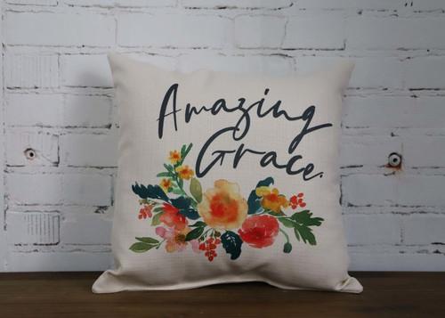 Square Pillow Amazing Grace 16 x 16