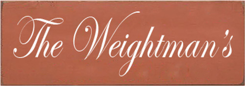 3.5x10 Paprika board with White text  The Weightman's