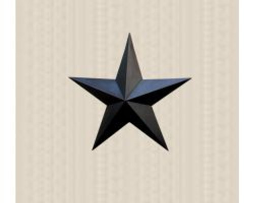 48in. Black Metal Barn Star