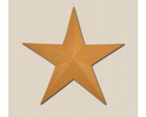 48in. Mustard Metal Barn Star