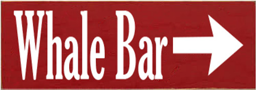 3.5x10 Red board with White text  Whale Bar