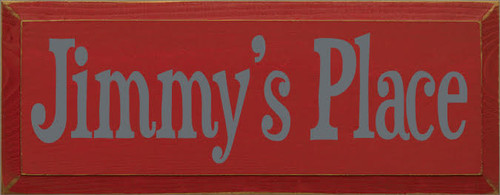 CUSTOM Wood Painted Sign Jimmy's Place 7x18