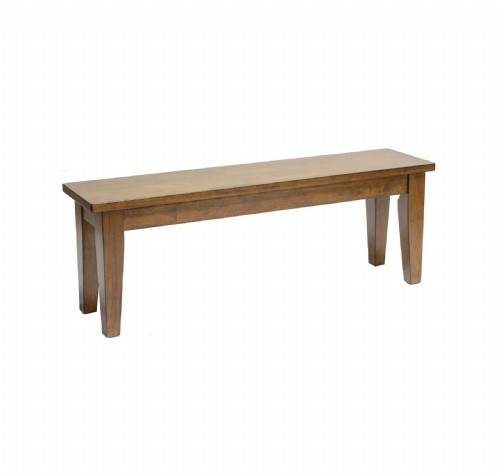 Solid Wood 50 x 12 x 17.5 Bench Urban Country Collection Black Or Chestnut Stain