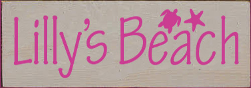 3.5x10 Putty board with Blush text  Lilly's Beach