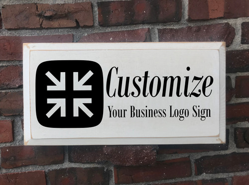 Customized Business Logo Wood Painted Signs - Add Any Text Personalized For You