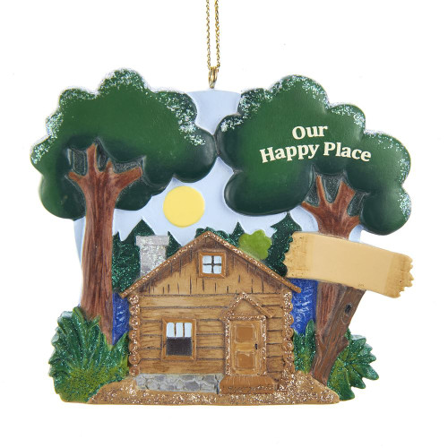 Lake Cabin Outdoors Ornament For Personalization Our Happy Place