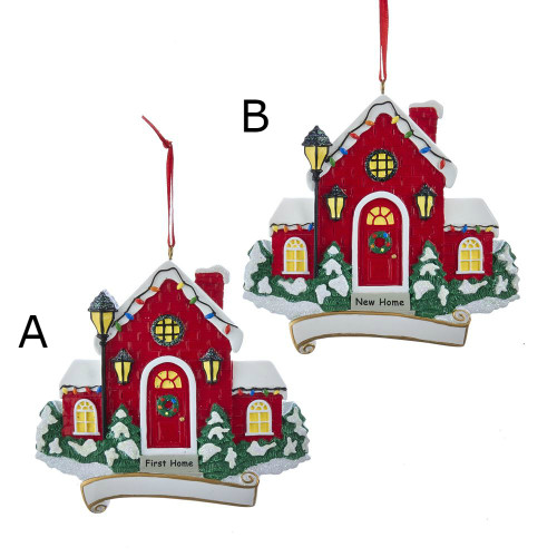 """First Home"" and ""New Home"" Ornaments For Personalization"