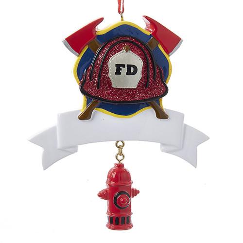 Fireman Fire Department Personalizable Ornament