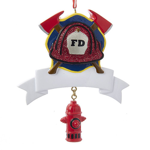 Fireman Fire Department Personalizable Ornament