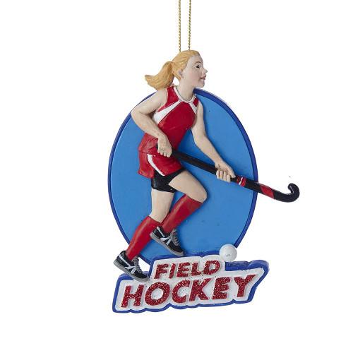 Field Hockey Girl Ornament