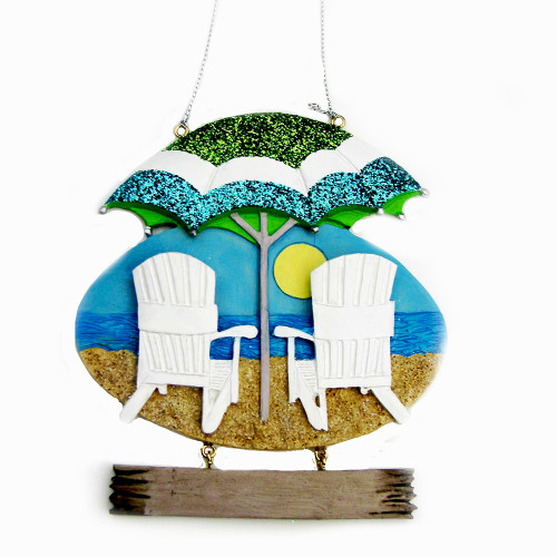 Beach Chairs Ornament For Personalization
