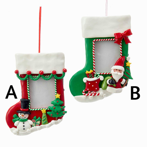 Snowman Stocking Frame or Santa Stocking Frame
